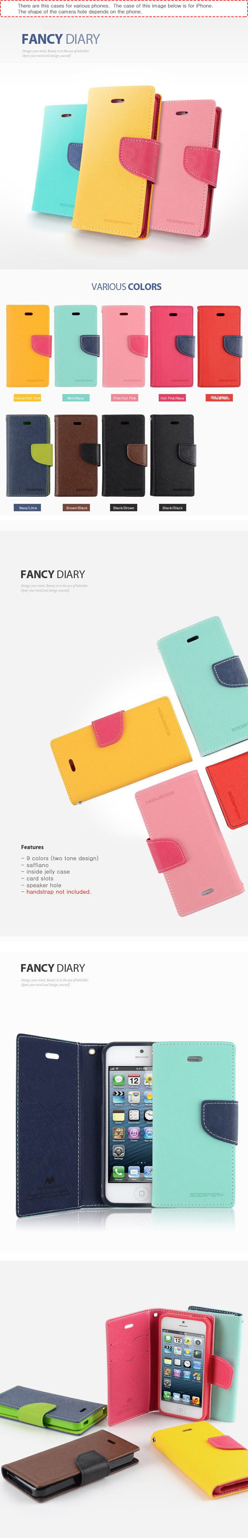 For Luna Tg L800s Case Fancy Diary Wallet Yellow Navy Red Goospery Iphone 7 Brown Black Categories